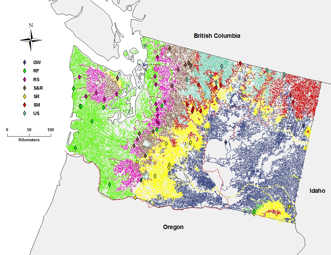 Hydrologic classes of Washington State